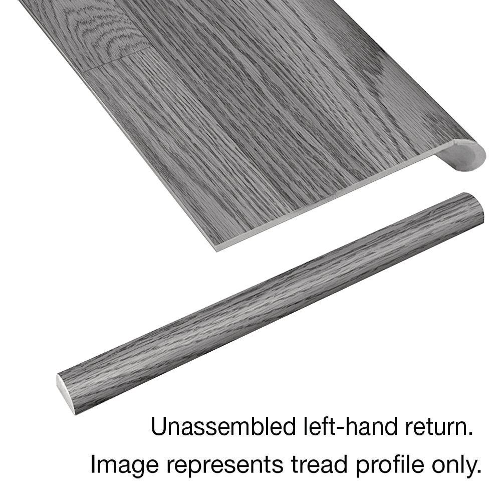 Awesome Cap A Tread Grey Wood Tile 94 In. Long X 12 1/8