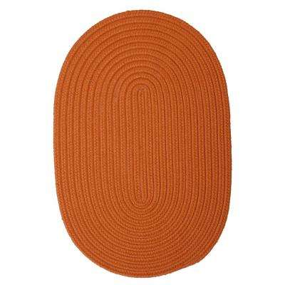 Trends Tangerine 2 ft. x 3 ft. Braided Oval Area Rug