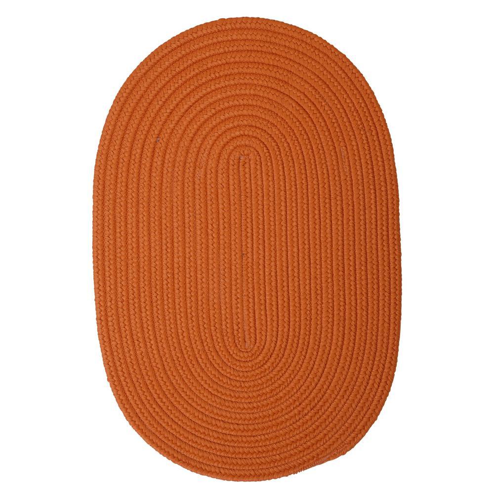 Trends Tangerine 2 ft. x 10 ft. Braided Runner Rug