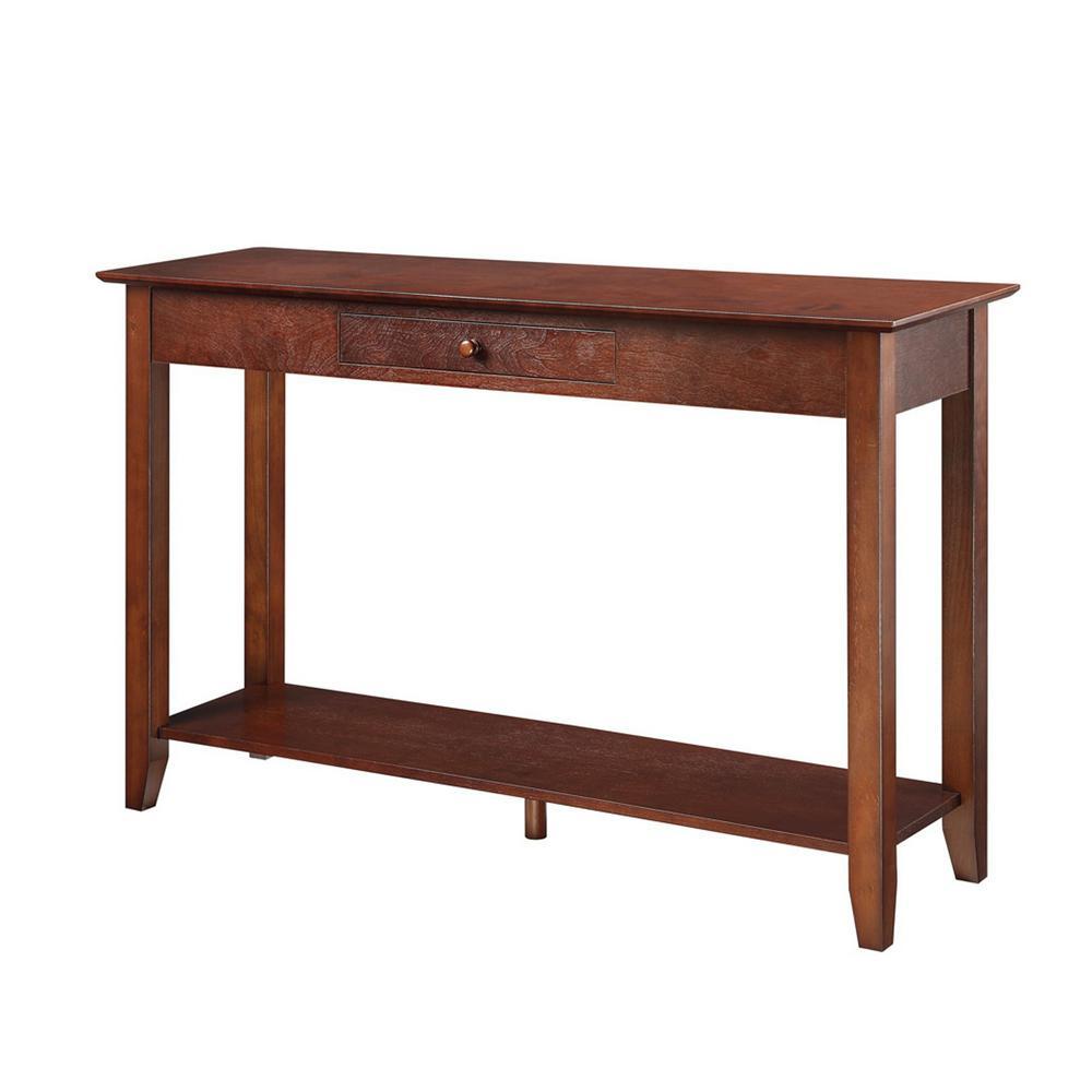 American Heritage Espresso Console Table