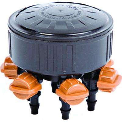 6-Outlet Adjustable Drip Manifold