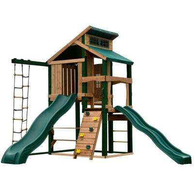 Hideaway Clubhouse Plus Playset with Cool Wave and Alpine Slides, and Tuff Wood