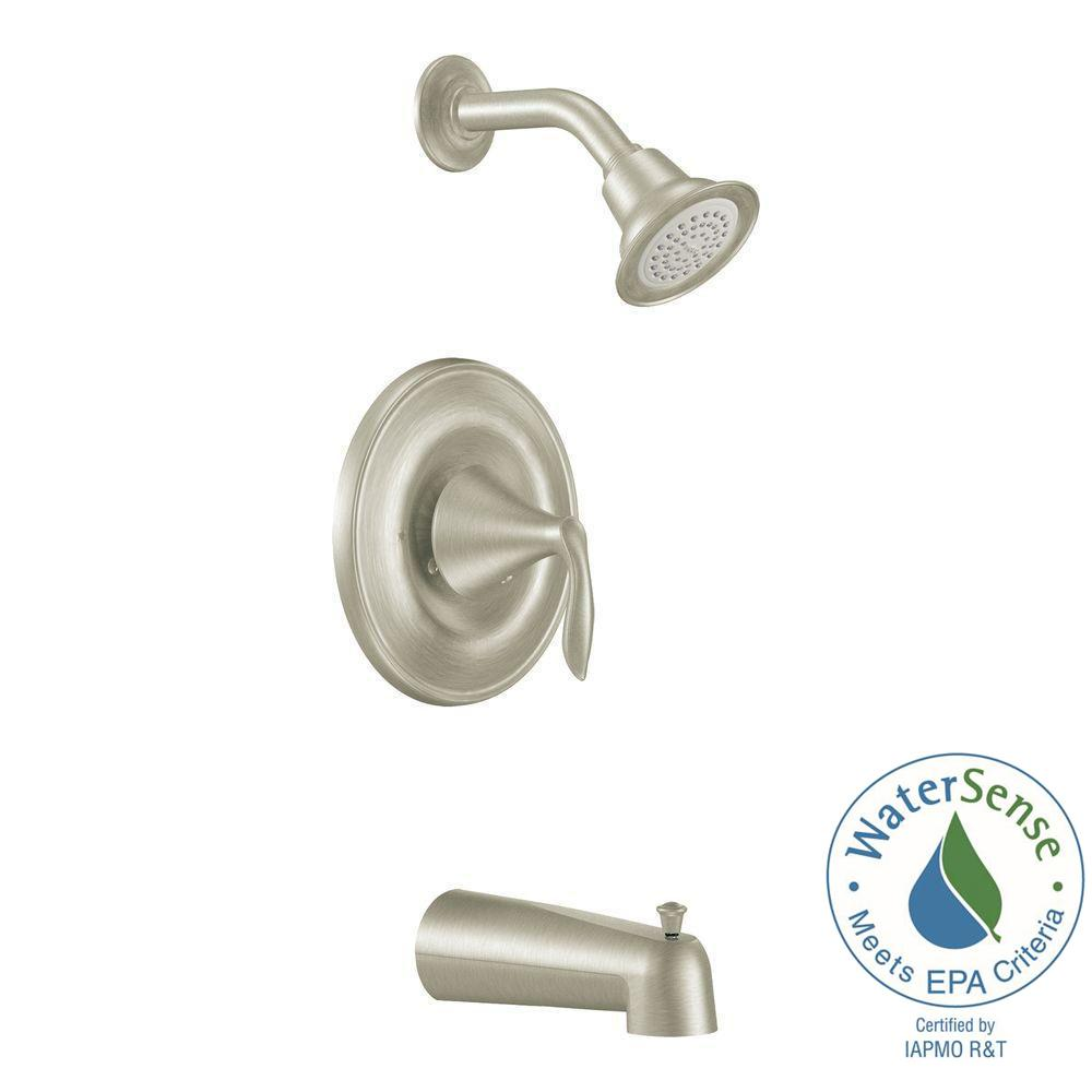 Eva 1-Handle Posi-Temp Tub and Shower Trim Kit with Eco-Performance Showerhead