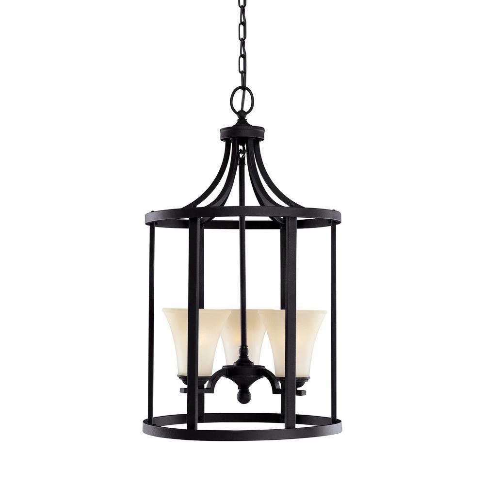Sea Gull Lighting Somerton 3-Light Blacksmith Hall-Foyer Pendant with LED Bulbs by Sea Gull Lighting