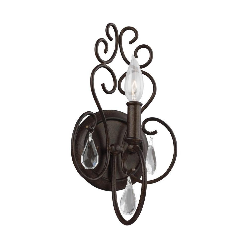 Angelette 1-Light Bonnieaux Bronze Vanity Light