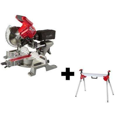 M18 FUEL 18-Volt Lithium-Ion Brushless Cordless 7-1/4 in. Dual Bevel Sliding Compound Miter Saw with Stand (Tool-Only)
