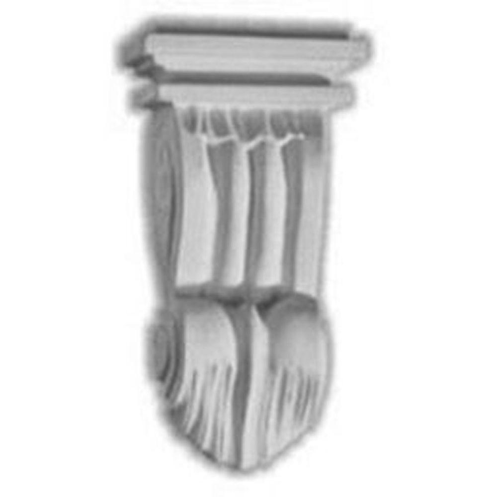 Ekena Millwork 3-1/2 in. x 2-1/4 in. x 6-1/8 in. Polyurethane Norwich Pilaster Corbel