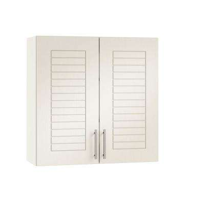 Assembled 36x30x12 in. Key West Open Back Outdoor Kitchen Wall Cabinet with 2 Doors in Radiant White