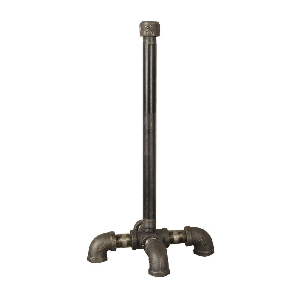 Pipe Decor Black Iron Paper Towel Holder Kit Industrial Steel Grey