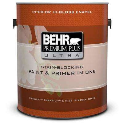 1 gal. Ultra-Pure White Hi-Gloss Interior Paint and Primer in One