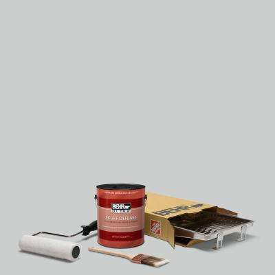 1 gal. #PPU26-16 Hush Ultra Extra Durable Flat Interior Paint and 5-Piece Wooster Set All-in-One Project Kit