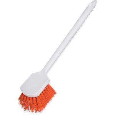20 in. Polyester Floater Orange Scrub Brush (12-Pack)