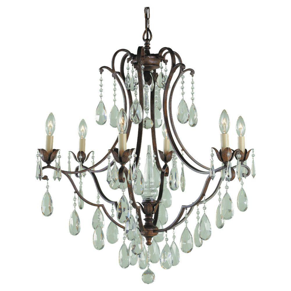 Feiss Maison De Ville 6-Light British Bronze Chandelier-F1883/6BRB ...