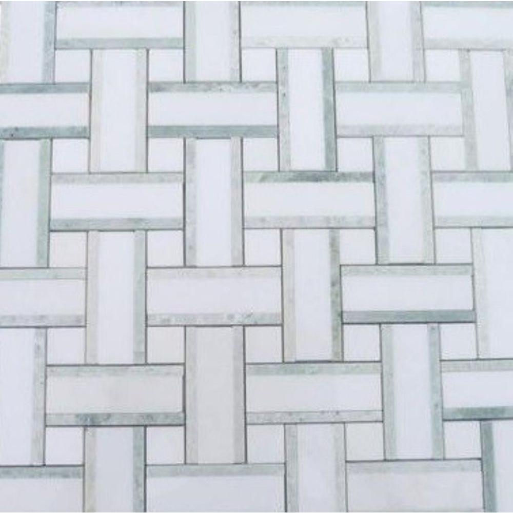 Yarn Olive Tree Polished Marble Tile - 3 in. x 6 in. Tile Sample