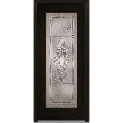 36 in. x 80 in. Heirloom Master Left-Hand Inswing Full Lite Decorative Stained Fiberglass Oak Prehung Front Door