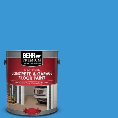 1 gal. #P510-5 Perfect Sky 1-Part Epoxy Satin Interior/Exterior Concrete and Garage Floor Paint