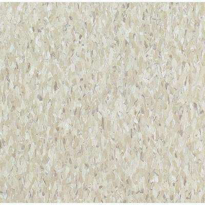 Take Home Sample - Imperial Texture VCT Shelter White Standard Excelon Vinyl Tile - 6 in. x 6 in.