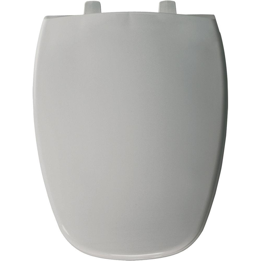 Elongated Closed Front Toilet Seat in Silver