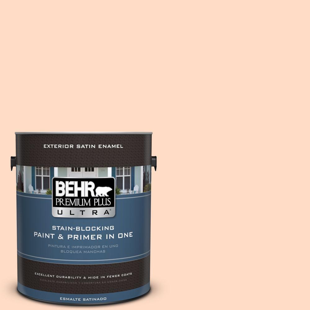 BEHR Premium Plus Ultra 1-gal. #260C-2 Salmon Creek Satin Enamel Exterior Paint