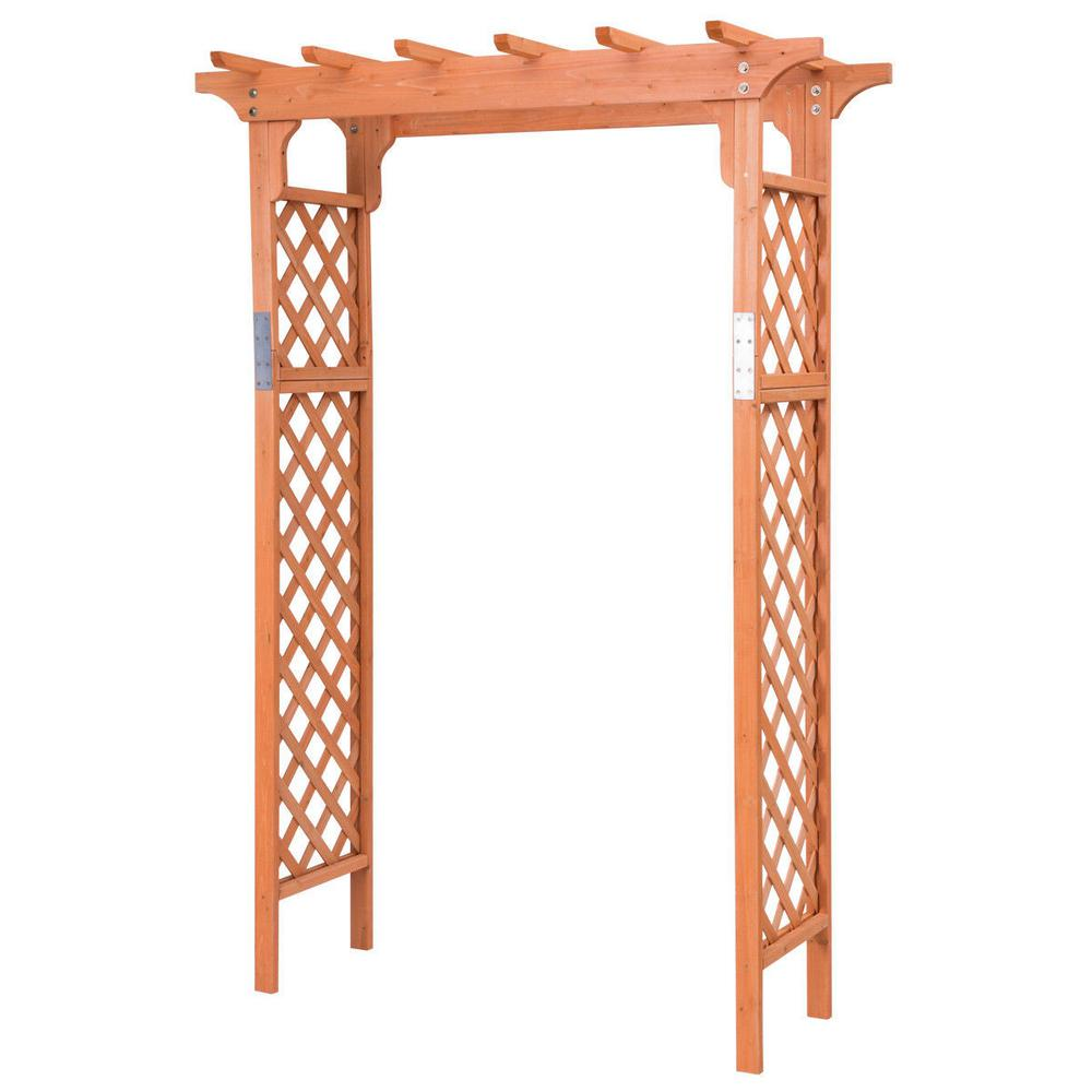 Casainc 88 In H X 32 In W Wooden Garden High Arbor Arch Plant Pergola Wf Op3361 The Home Depot
