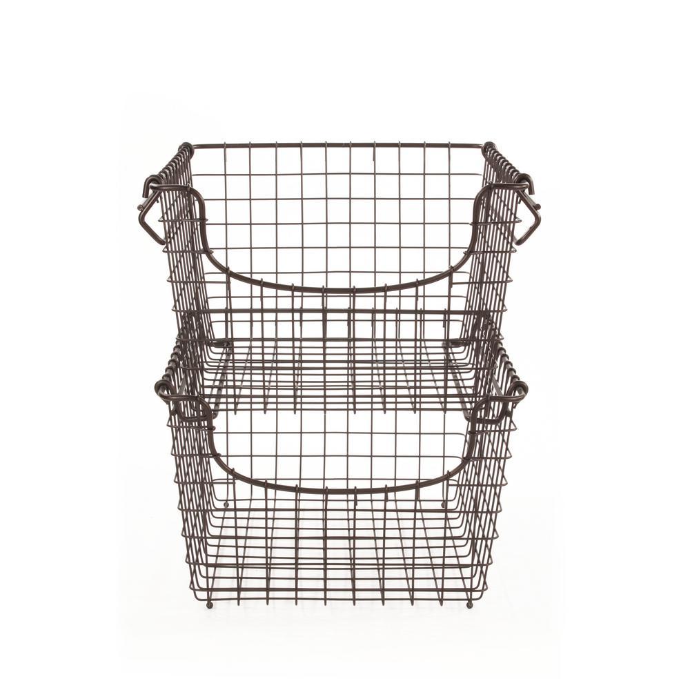 Scoop Medium Bronze Stacking Basket