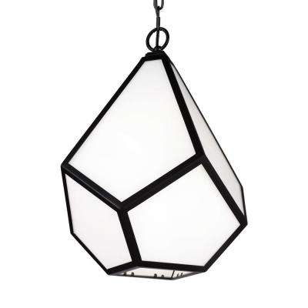 Diamond 1-Light Black Pendant