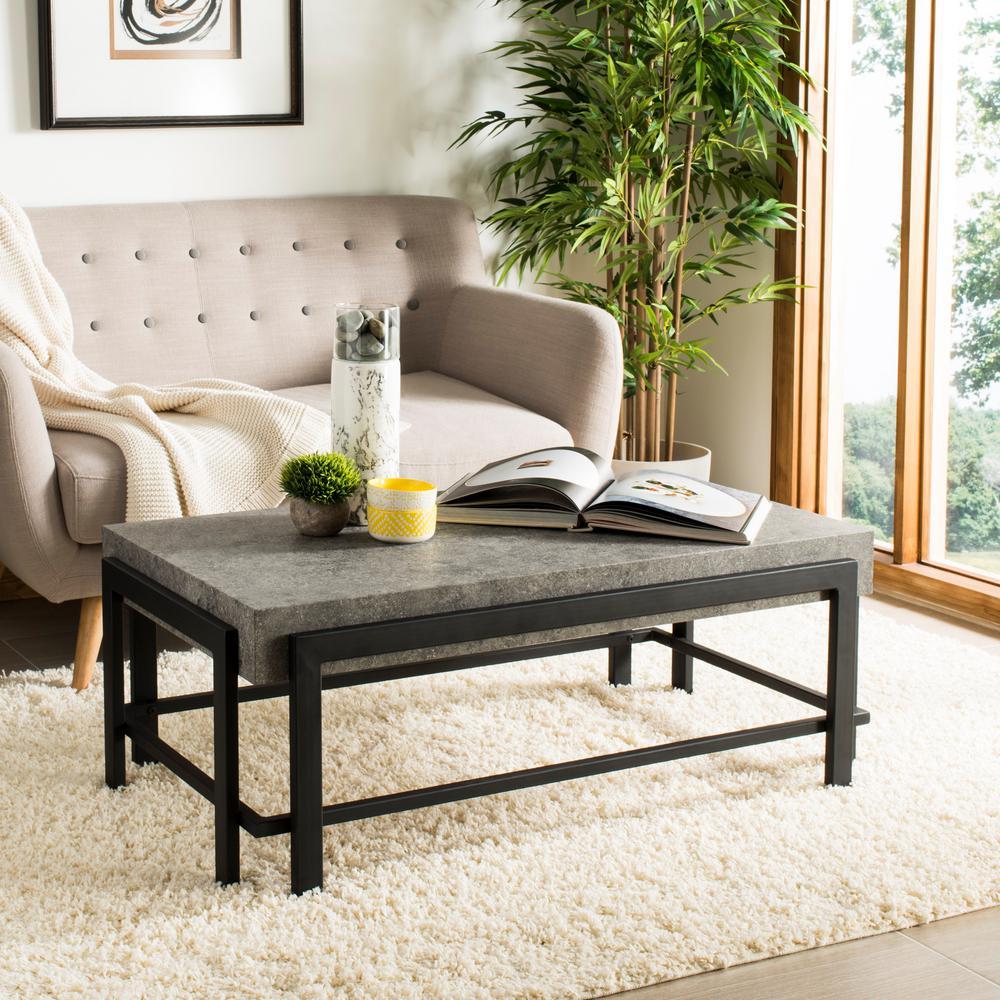 Safavieh Oliver Dark Gray Black Coffee Table Cof7006a