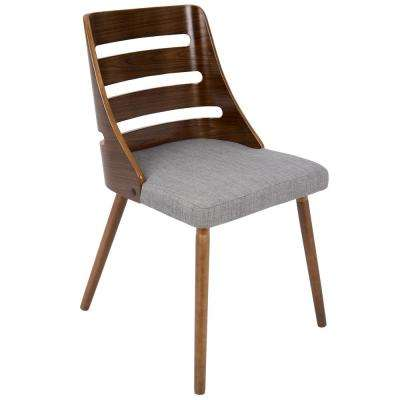 Trevi Walnut and Grey Accent Chair