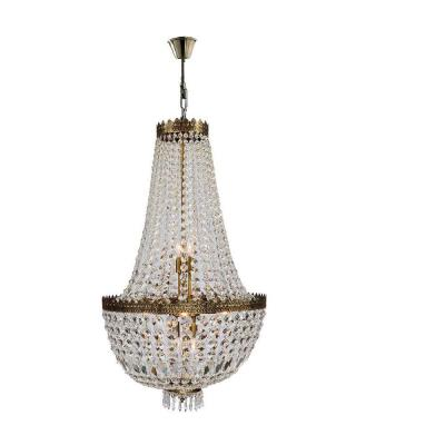 Metropolitan Collection 8-Light Antique Bronze Chandelier with Crystal Shade