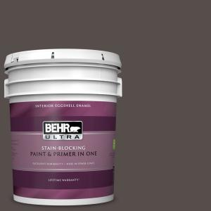 Behr Ultra 5 Gal 460f 7 Hazel Woods Eggshell Enamel Interior Paint And Primer In One 275305 The Home Depot