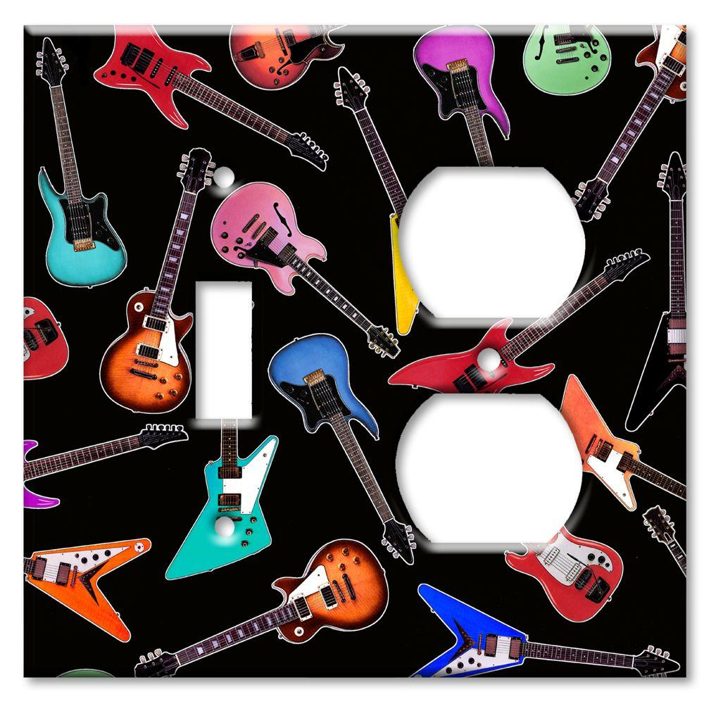 Art Plates Electric Guitars Switch/Outlet Combo Wall Plate
