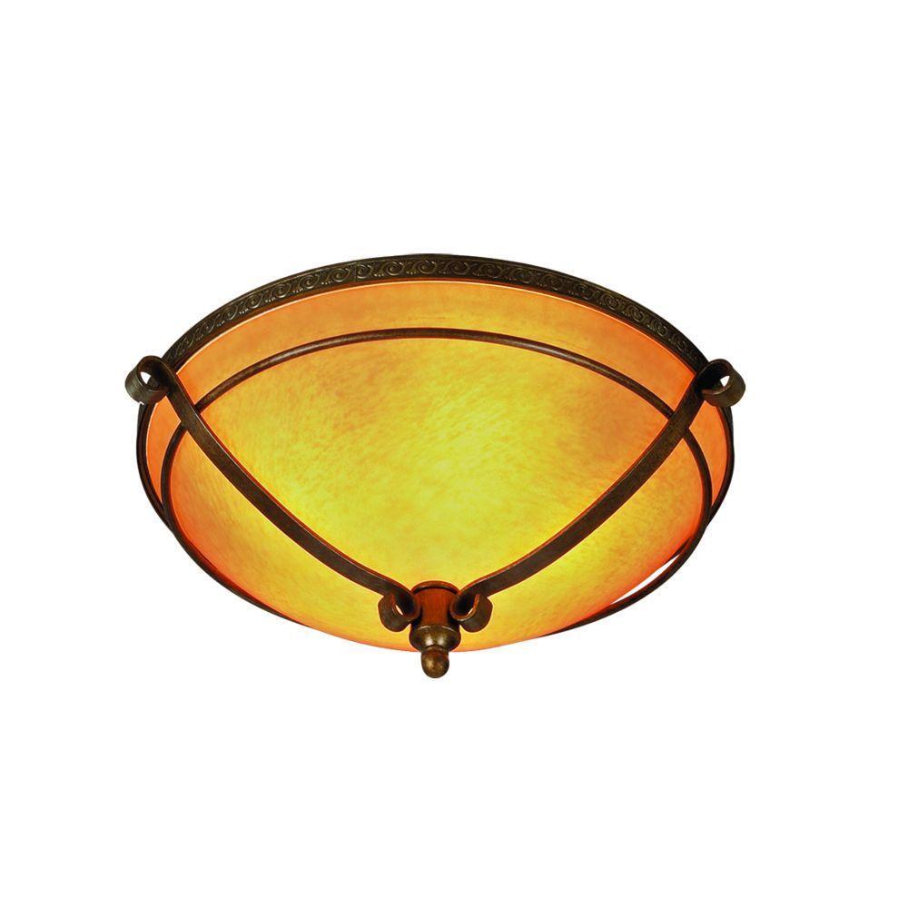Eurofase Rustico Collection 5-Light Flush Mount Antique Gold Light