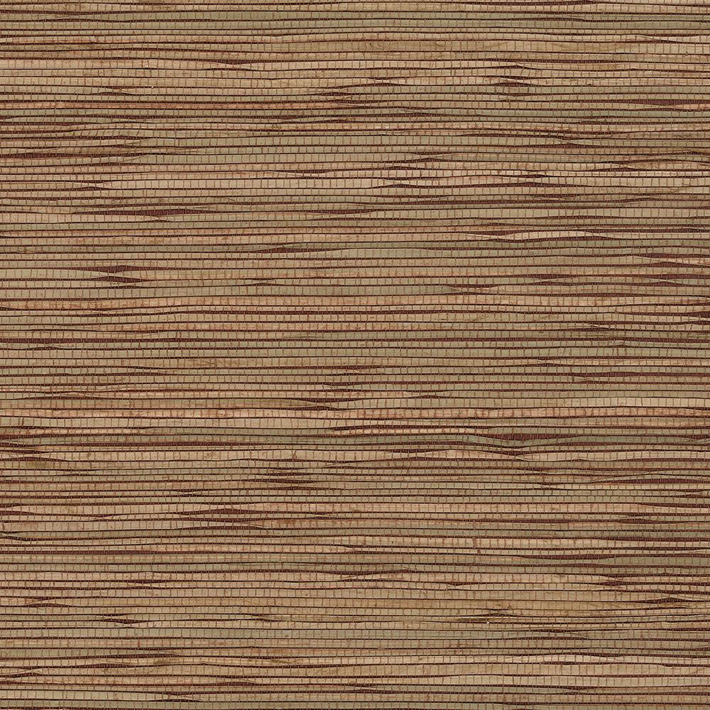Vertical Grasscloth Wallpaper: Vertical Grass Cloth Look Wallpaper-AM49432