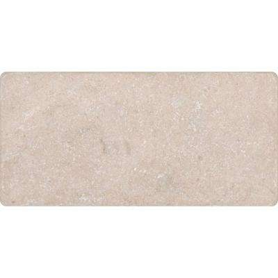 Crema Marfil 3 in. x 6 in. Tumbled Marble Floor and Wall Tile (1 sq. ft. / case)
