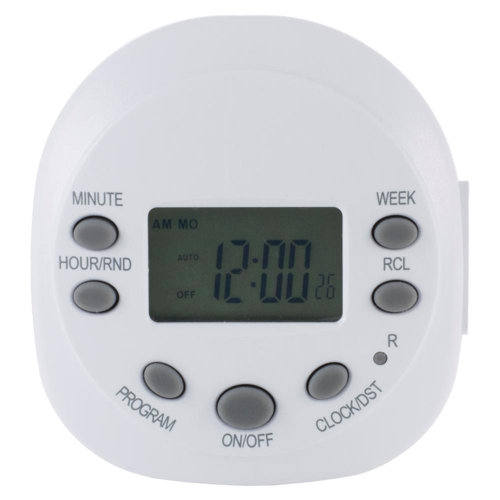Intermatic 15 Amp Astronomic Digital In Wall Timer White St01k How To Build 28 Led Clock 7 Day Heavy Duty