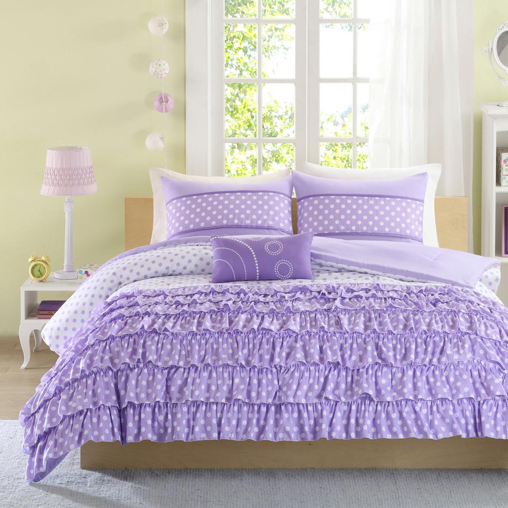 Ellen 3-Piece Purple Twin Comforter Set