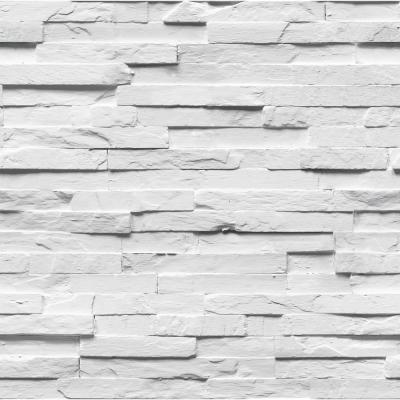 White Ledgestone Wallpaper