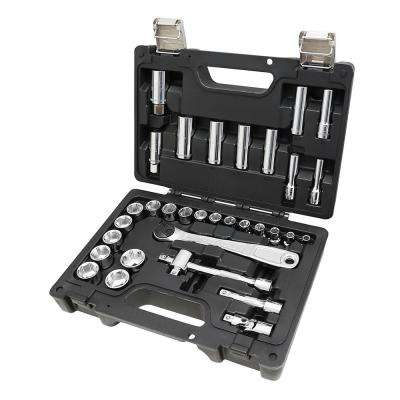 3/8 in. Drive Metric Socket Set with Ratchet (33-Piece)