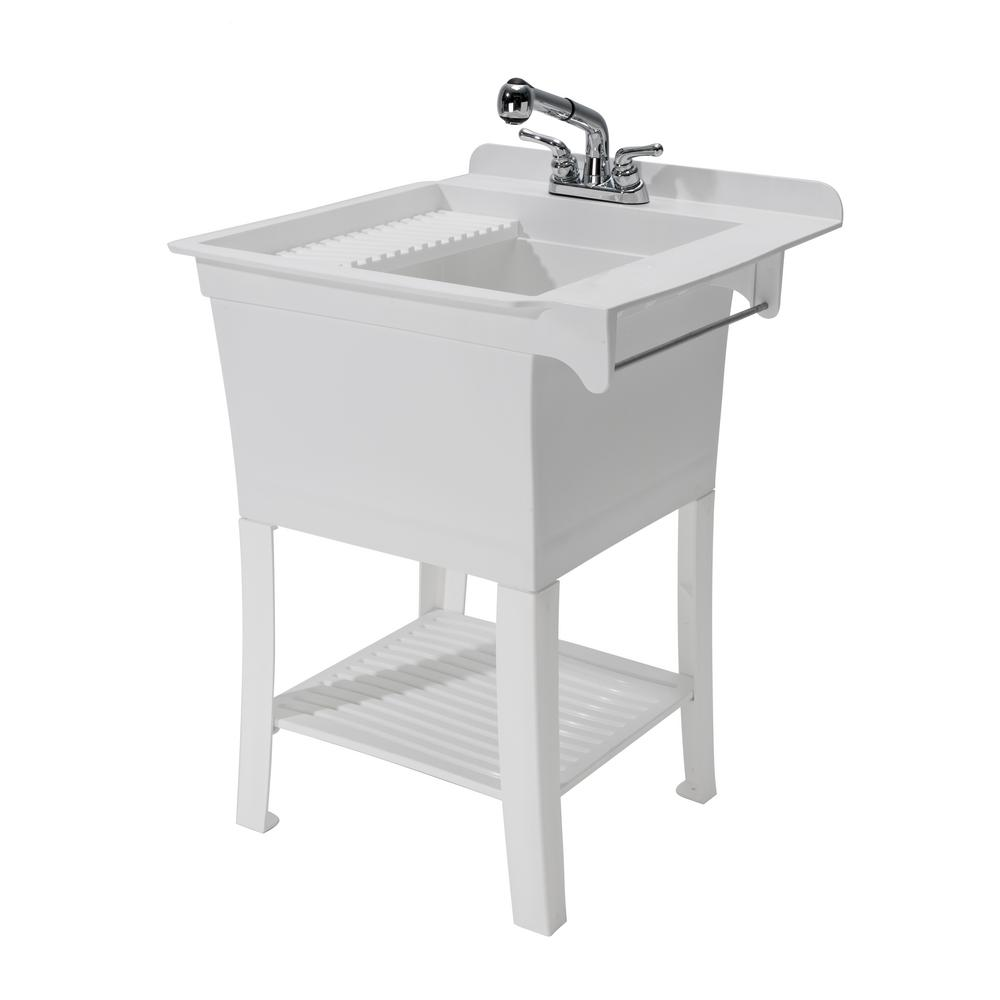 Fully Loaded Sink Kit Cashel 1980-32-01 The Maddox Workstation White