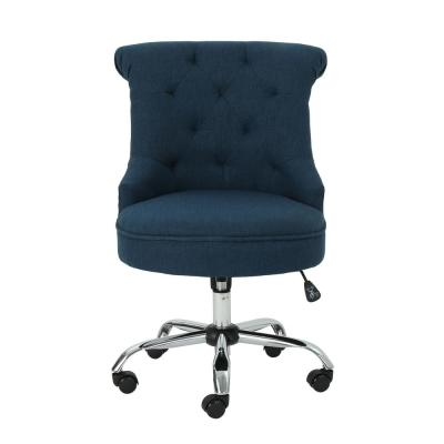 Auden Tufted Back Navy Blue Fabric Home Office Desk Chair