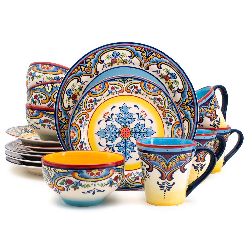 Zanzibar 16 Piece Stoneware Dinnerware Set