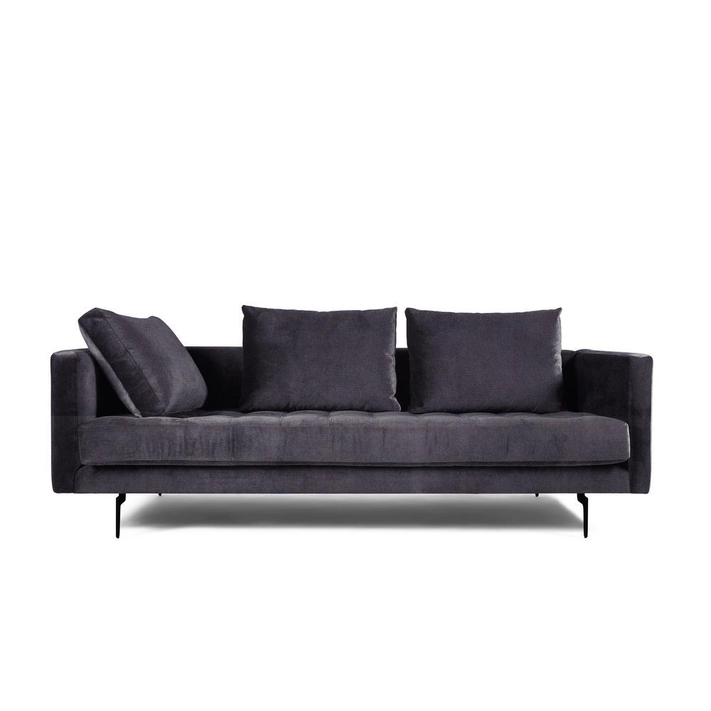 Manhattan Comfort Granville 3 Seat Purple Velvet Sofa