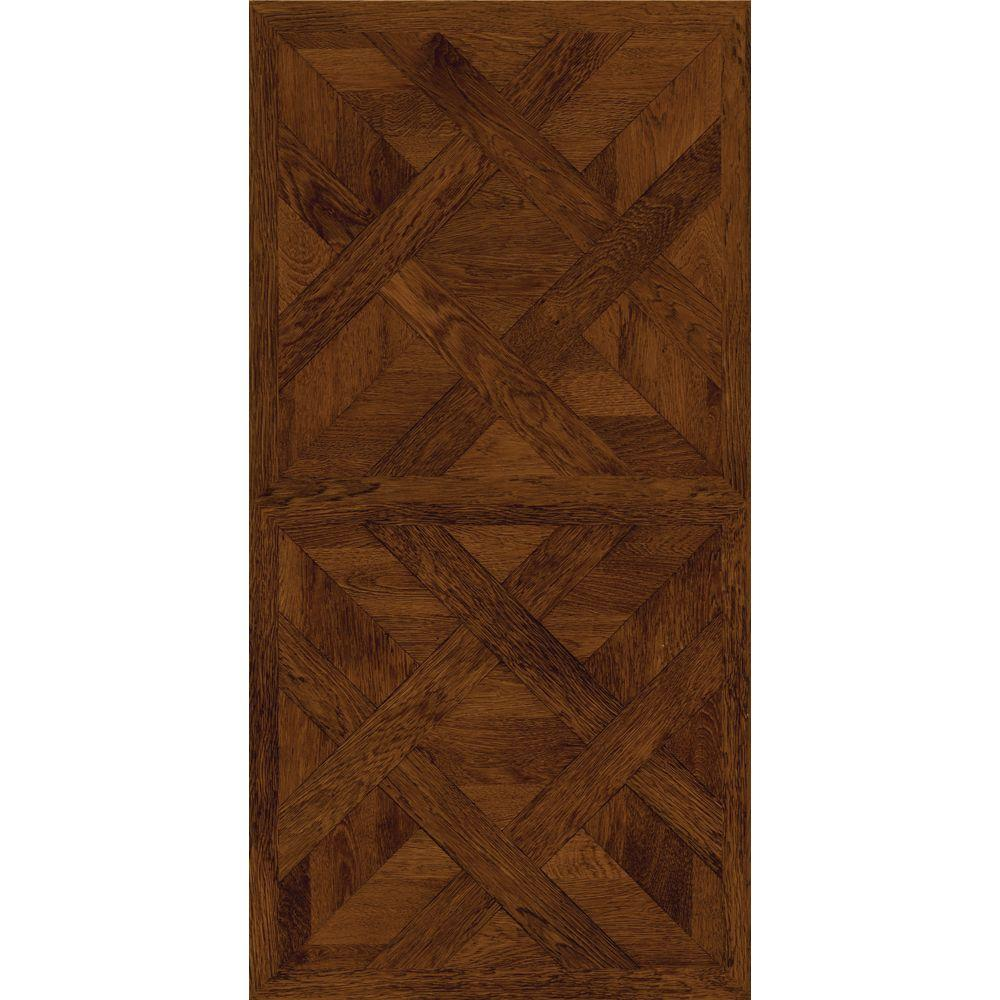 Trafficmaster allure 16 in x 32 in chateau parquet dark for Dark wood vinyl flooring