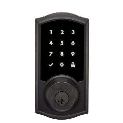 Premis Touchscreen Smart Lock Venetian Bronze Single Cylinder Electronic Deadbolt Featuring SmartKey Security