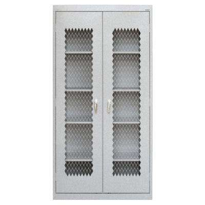 72 in. H x 36 in. W x 24 in. D Steel Freestanding Expanded Metal Front Cabinet in Multi-Granite