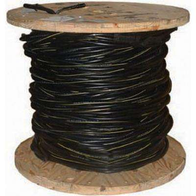 500 ft. 2/7 Black Stranded AL Poly Triplex Conch URD Cable
