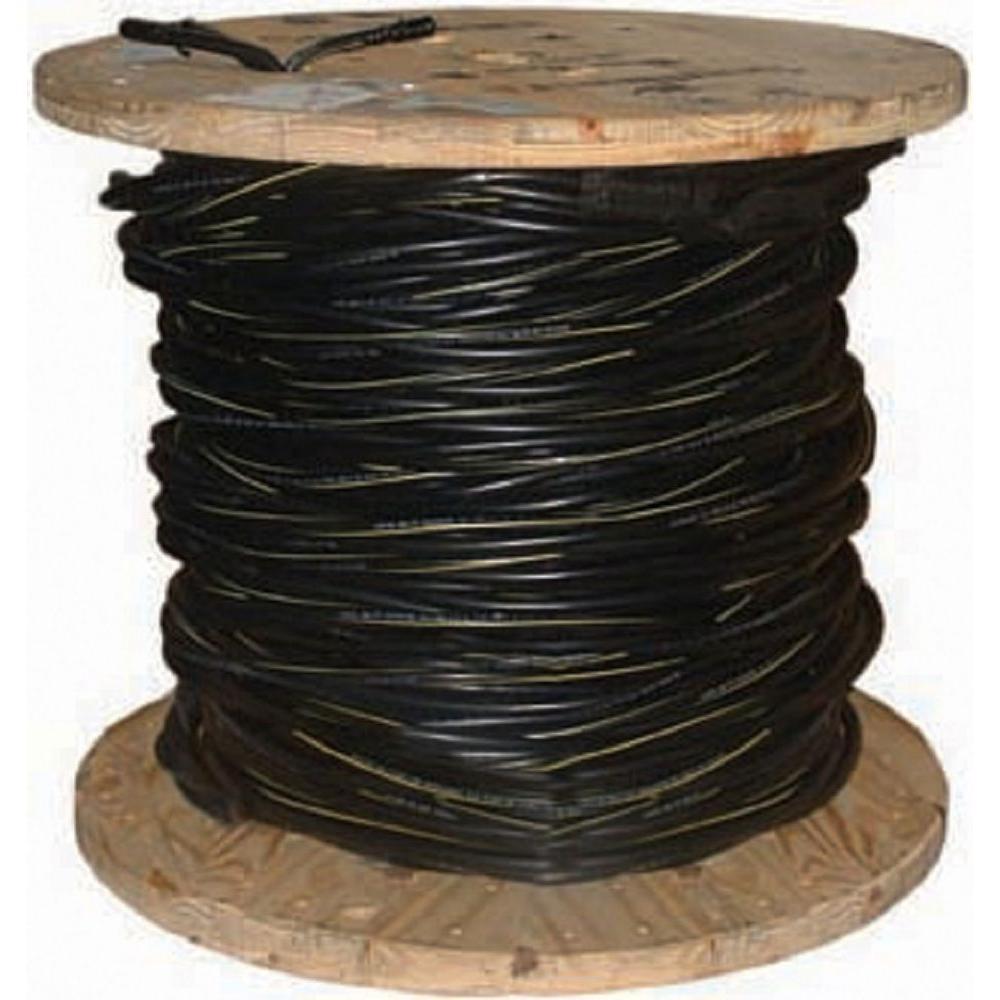 500 ft. 2/7 Black Stranded AL Poly Triplex Service Drop Cable