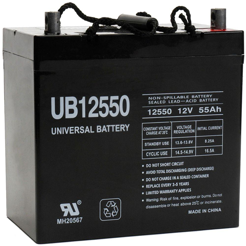 upg sla 12 volt 55 ah z1 terminal battery ub12550 group. Black Bedroom Furniture Sets. Home Design Ideas