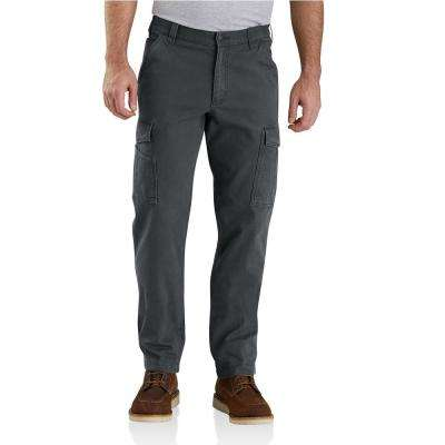 Men's 44 in. x 30 in. Shadow Cotton/Polyester Rugged Flex Rigby Cargo Pant
