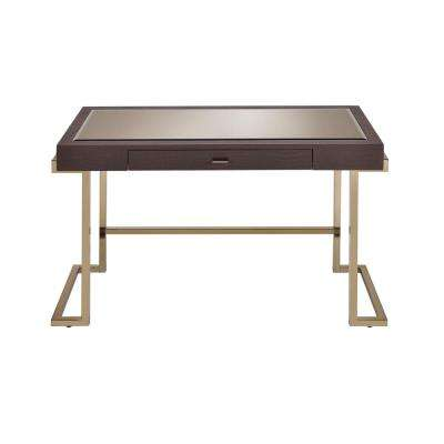 Espresso PU and Champagne Boice Writing Desk